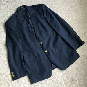 Men's LAUREN Ralph Lauren Navy Wool Blazer